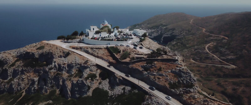 A magical location at a monastery on Tzia island. An elegant wedding in Greece | whitefilming